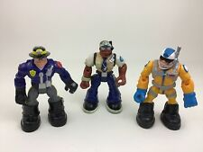 "Rescue Heroes Lot 6"" Action Figures Jake Justice Willy Stop Fisher Price Toys B2"