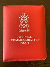 1988 Calgary Olympics Commemorative .999 Ingot