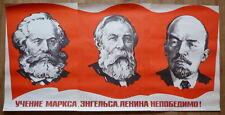 1981 BIGGEST SOVIET RUSSIAN VINTAGE POSTER COMMUNIST SOCIALIST LENIN MARX ENGELS