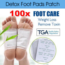 100 Foot Pad Care Sticky Adhesives 100x Detox Patch Natural Plant Toxin Removal