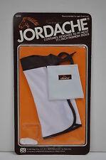 """Mego 11 1/2"""" Jordache fashion doll outfit 1981 MOC  White/Brown dress w/bag"""