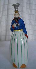 Robj porcelian Man w/pipe liquor bottle empty reproduction