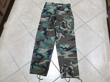 US  ARMY WOODLAND BDU PANTS HOT WEATHER  SIZE SMALL-REGULAR