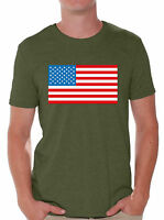 USA Flag Men's T shirt Tops Patriotic 4th of July Independence Day