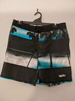 Mossimo Men's Shorts Size Large Blue Board Shorts Swimming Palm Trees