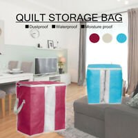 60L Foldable Storage Bag Clothes Blanket Quilt Closet Sweater Organizer Holder