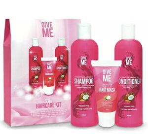 Give Me Hair Argan & Coconut Oil Shampoo Conditioner & Hair Mask Hair Kit NEW 💗