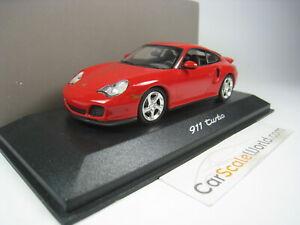 PORSCHE 911 TURBO (996) 2000 1/43 MINICHAMPS (RED)