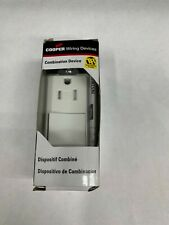 Cooper Wiring Devices TR7730W Single Pole Switch & Grounding Receptacle