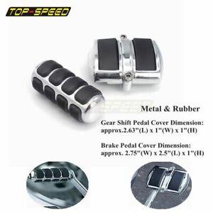 Chrome Gear Shift Lever Peg Brake Pedal CoverFor Yamaha V-Star 650 950 1100 1300