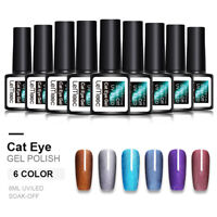 LEMOOC 3D Wide Cat Eye UV Gel Polish Magnetic Soak Off Gel Nail Art