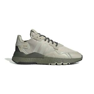 New Adidas Boost Nite Jogger Sneaker Shoe EE5871 - Olive / Tan size 12