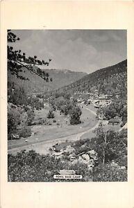 1940's? Bird's Eye Ponil Base Camp Philmont Boy Scout Ranch Cimarron NM postcard