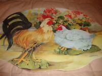 """Vtg Keller-Charles Philadelphia Melamine Platter 17.5x13"""" Farmhouse Decor    371"""