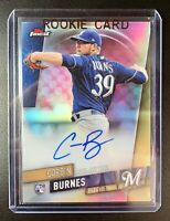 CORBIN BURNES 2019 Topps Finest Autograph REFRACTOR Rookie RC Milwaukee Brewers