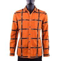MOSCHINO COUTURE RUNWAY Jeanshemd Jeans Hemd mit Logo Orange Shirt 05401