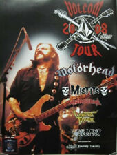 VOLCOM 2008 MISFITS MOTORHEAD TOUR Flawless Promotional Poster LEMMY R.I.P.