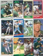 Huge Lot of 1000 Oakland Athletics Cards; 1986-1997; NM-Mint