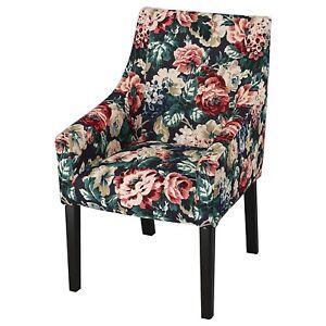 NWT Ikea SAKARIAS Chair Armchair Cover Slipcover LINGBO Dark Floral NEW
