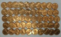 1967 1C Cent Penny Lincoln Memorial Full Roll 50 Coins +Tube Uncirculated LE243