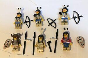 Lego Western Indians x6 Job Lot Quivers Medicine Man JOB LOT