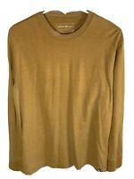 Mens Eddie Bauer Long Sleeve Shirt | Size Medium | Solid Brown Outdoors Top