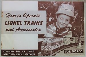 LIONEL TRAINS OPERATING INSTRUCTIONS & ACCESSORIES GUIDE BOOKLET 1955 VINTAGE