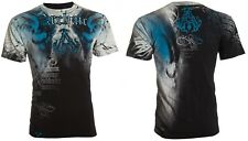 Archaic Affliction Men S/S T-Shirt NIGHTWATCHER Skull BLACK BLUE Biker S-3XL $40
