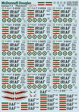"""DECAL FOR RF-4 """"PHANTOM II"""" IRIAF 1/72 PRINT SCALE 72-202"""