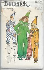 Butterick Pattern 5105 Children's and Girl's Clown Costume