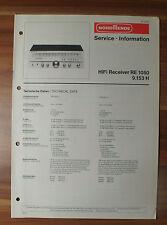 HiFi Receiver RE1050 9.153H Nordmende Service Manual Serviceanleitung