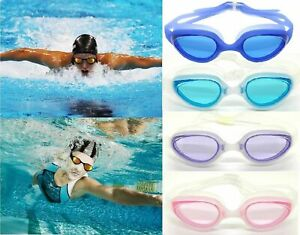 Swimming Goggles UV Adjustable Anti Fog For Men Women Adult With Ear Plugs