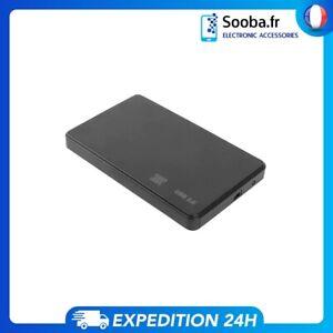 """Boîtier Disque dur externe 2.5 """" Coque USB 2.0 vers SATA Pour HDD SSD Avec câble"""