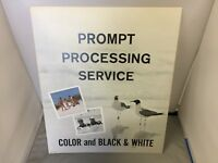 KODAK ADVERTISING VINTAGE CARDBOARD STORE DISPLAY RARE PROMPT PROCESSING SERVICE