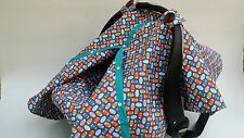 5 pieces baby car seat cover canopy 100%cotton set fit all seat football print