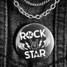 RockStar Badge Rock Band Music Novelty Pin Button Rocker Gift 25mm 38mm