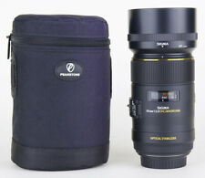 Sigma 105mm 1:2.8 DG Macro HSM Optical Stabilizer for Canon w/ Lens Caps & Case