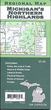 Regional Map of Michigan's Northern Highlands, by GMJ Maps