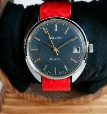 vintage watch  poljot  black and gold  URRS/CCCP 1970 mechanic working