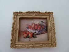 Dolls House Miniature 1:12th Scale Lounge Study Picture Cherries In a Bowl