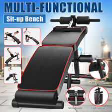 Adjustable Sit Up Abdominal Bench Gym Ab Home Exercise Fitness Indoor Training