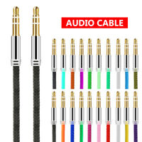 Premium 3.5mm Jack Stereo Headphone Wire Car Aux Cord Audio Cable Male to Male