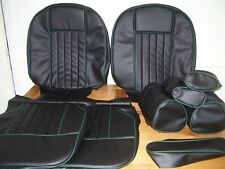 mgb gt SEAT COVERS.for SEATS reclinin & headrests.black vinyl.FITS 1970 to 1981