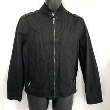 Jasper Conran Mens Bomber Jacket Size Small Black Cotton Zip UP