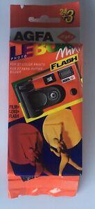 AGFA  LeBox Mini Flash HDC 400 mit 27 Aufnahmen in OVP, abgelaufen 6.1999
