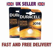 UK 2 X Duracell CR2016 3V Lithium Button Battery Coin Cell DL2016 FAST FREE POST