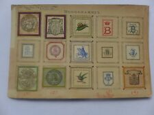 Ex-libris ancien ,Monogrammes,armoiries collés sur carton dont KOLA-FOOD .......