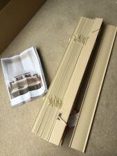 Cream wooden Venetian Blinds 50cm Slats 65x 98cm Brand new In Box