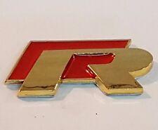 24ct vergoldet VW R Line rot hinten Heckklappe Emblem 24K