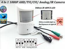 CCTV HD-AHD/TVI/CVI/CVBS 2.0MP1080P PIR Hidden Spy IR 940nm LED Invisible Camera